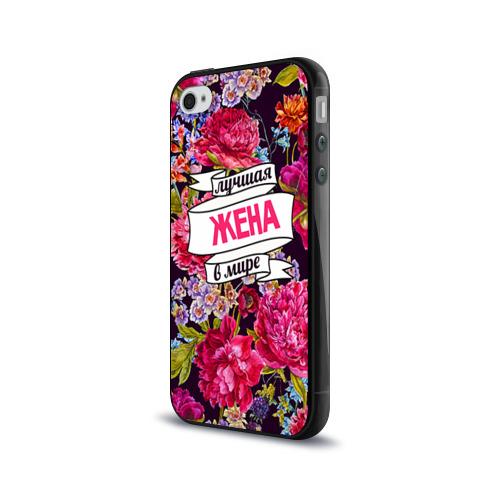 Чехол для Apple iPhone 4/4S силиконовый глянцевый  Фото 03, Лучшая жена
