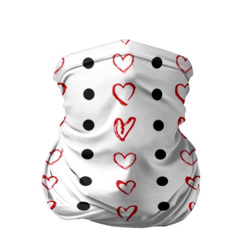 Бандана-труба 3D Сердца и точки