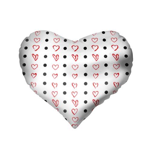 Подушка 3D сердце  Фото 02, Сердца и точки
