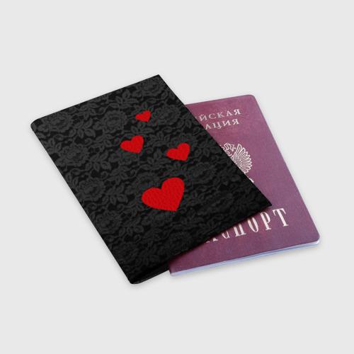 Обложка для паспорта матовая кожа  Фото 03, Кружево и седца