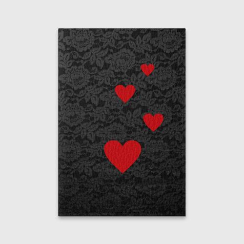 Обложка для паспорта матовая кожа Кружево и сердца Фото 01