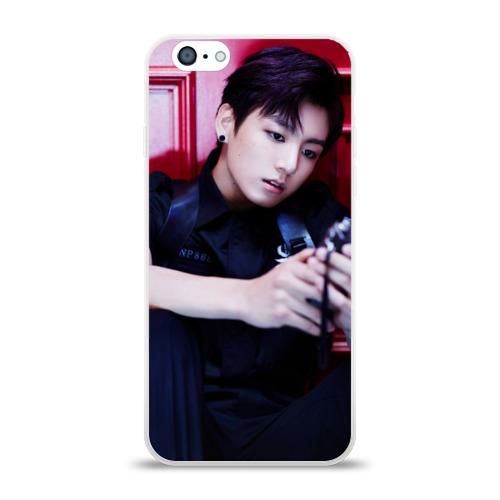 Чехол для Apple iPhone 6 силиконовый глянцевый  Фото 01, BTS, Jungkook