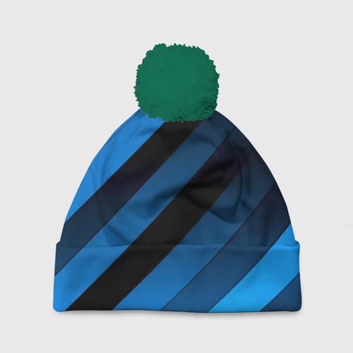 Шапка 3D c помпоном