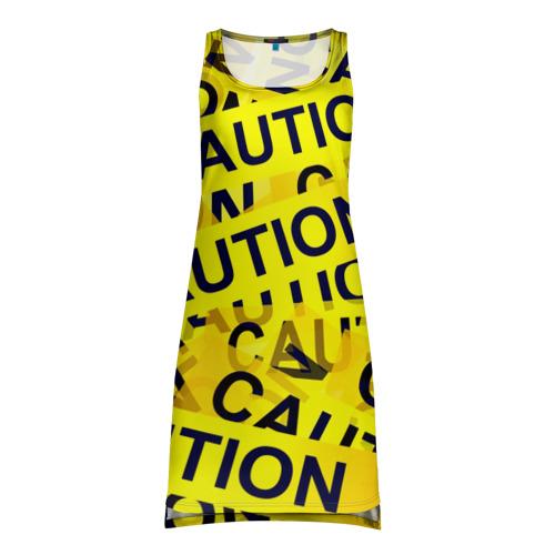 Платье-майка 3D Caution
