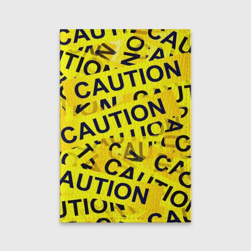 Обложка для паспорта матовая кожа  Фото 01, Caution