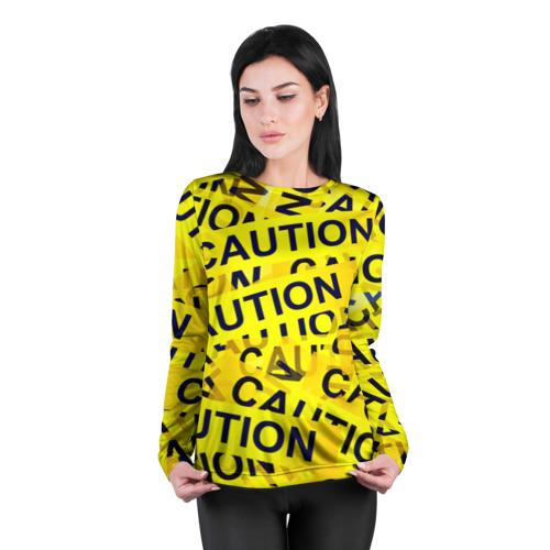 Женский лонгслив 3D для беременных  Фото 04, Caution