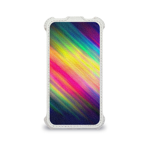 Чехол для Apple iPhone 4/4S flip  Фото 04, Радужные полосы