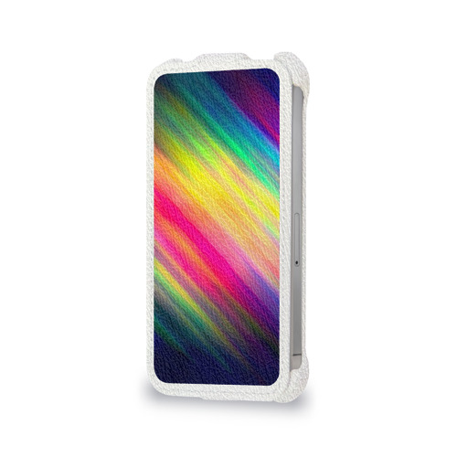 Чехол для Apple iPhone 4/4S flip  Фото 06, Радужные полосы
