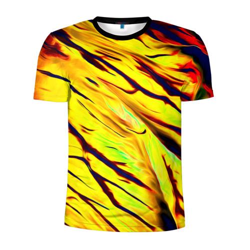 Мужская футболка 3D спортивная Кислота