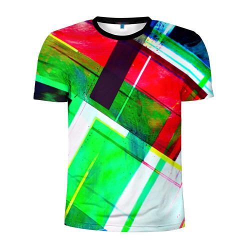 Мужская футболка 3D спортивная Geometrical