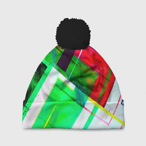 Шапка 3D c помпоном Geometrical