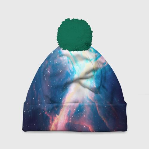 Шапка 3D c помпоном Вселенная