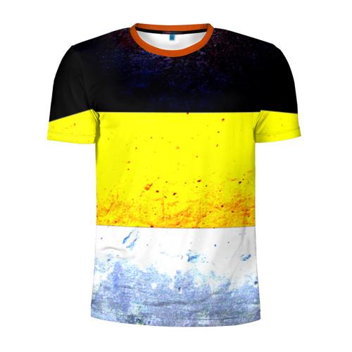 Мужская футболка 3D спортивная Триколор