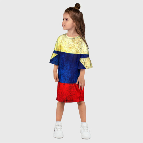 Детское платье 3D  Фото 03, Триколор