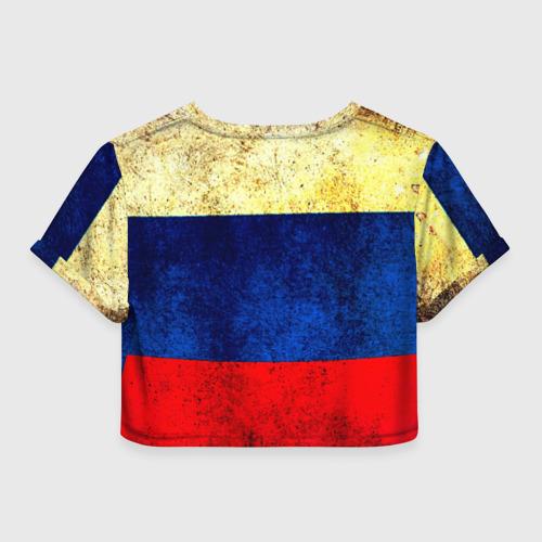 Женская футболка 3D укороченная  Фото 02, Триколор