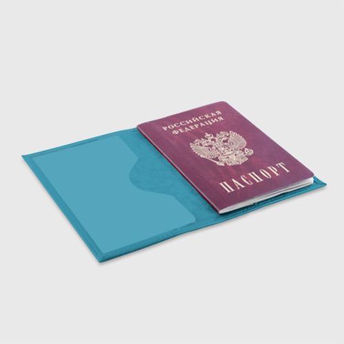 Обложка для паспорта матовая кожа  Фото 04, Волны
