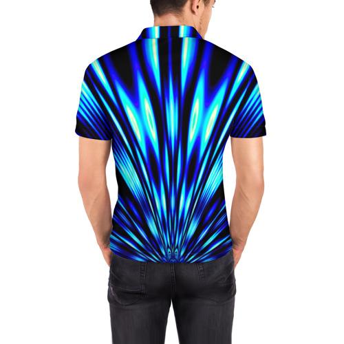Мужская рубашка поло 3D  Фото 04, Лучи