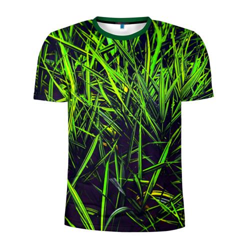 Мужская футболка 3D спортивная Трава