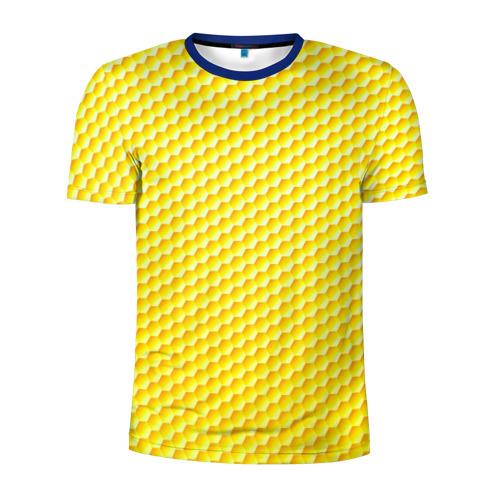 Мужская футболка 3D спортивная Соты