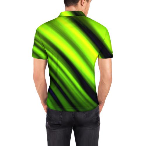 Мужская рубашка поло 3D  Фото 04, Green fon