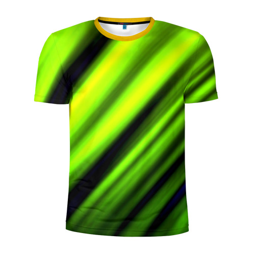 Мужская футболка 3D спортивная Green fon
