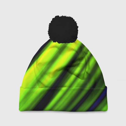 Шапка 3D c помпоном Green fon