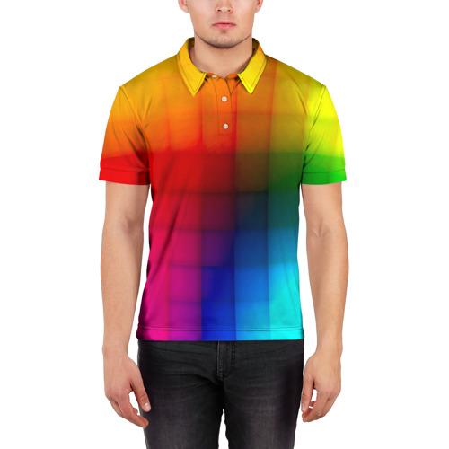 Мужская рубашка поло 3D  Фото 03, Кубики