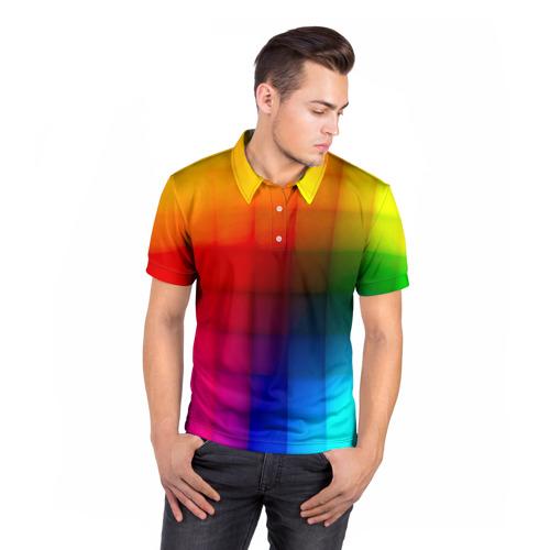 Мужская рубашка поло 3D  Фото 05, Кубики