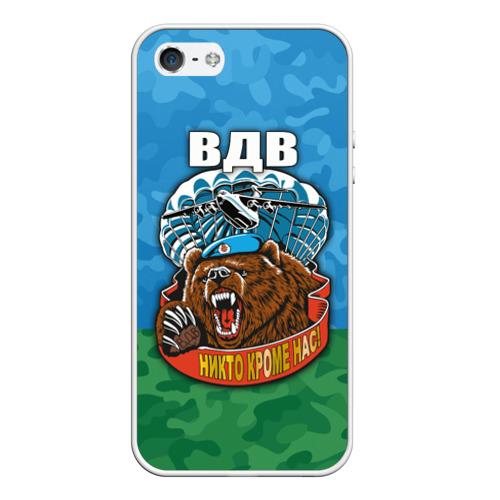 Чехол для Apple iPhone 5/5S силиконовый ВДВ медведь от Всемайки