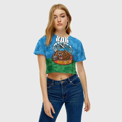 Женская футболка 3D укороченная  Фото 04, ВДВ медведь