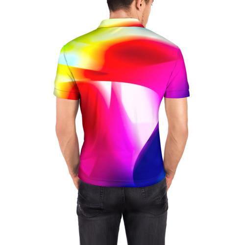 Мужская рубашка поло 3D  Фото 04, Радужный
