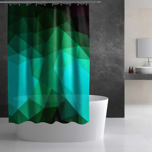 Штора 3D для ванной  Фото 02, Абстракция