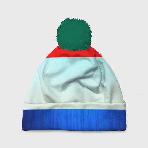 Шапка 3D c помпоном Триколор