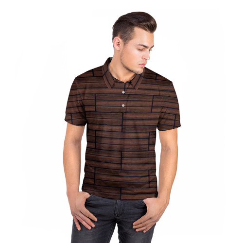 Мужская рубашка поло 3D  Фото 05, Дерево