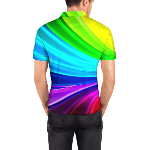 Мужская рубашка поло 3D  Фото 04, Geometrical