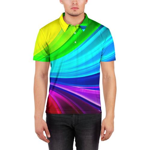 Мужская рубашка поло 3D  Фото 03, Geometrical