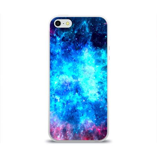 Чехол для Apple iPhone 5/5S силиконовый глянцевый Вселенная Фото 01