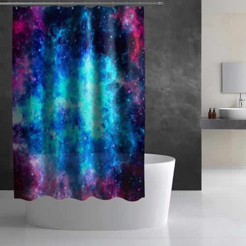 Штора 3D для ванной Вселенная Фото 01