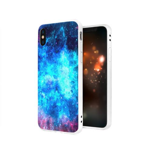 Чехол для Apple iPhone X силиконовый матовый Вселенная Фото 01