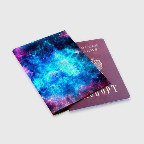 Обложка для паспорта матовая кожа Вселенная Фото 01