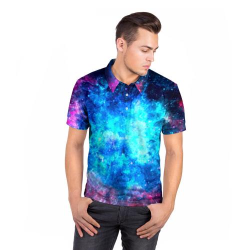 Мужская рубашка поло 3D  Фото 05, Вселенная