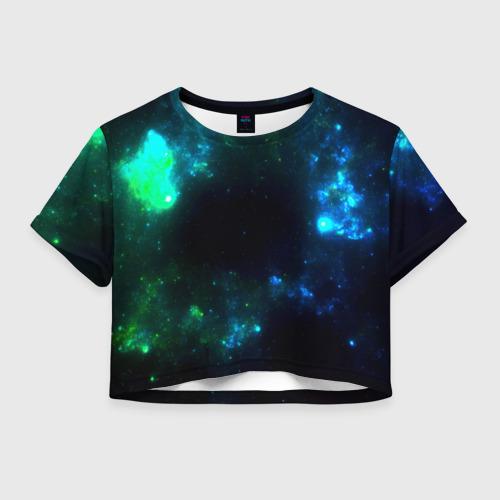 Женская футболка Crop-top 3D Космос Фото 01