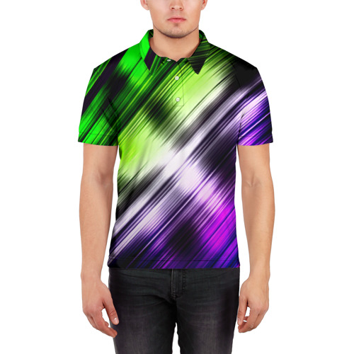 Мужская рубашка поло 3D  Фото 03, Потертости