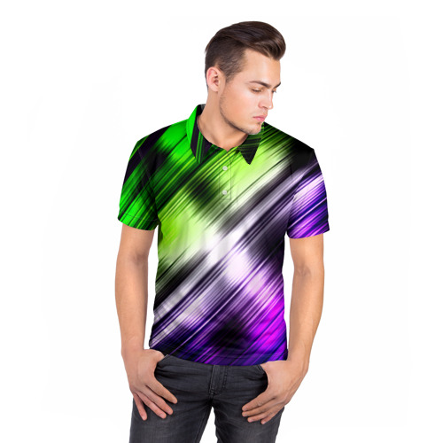 Мужская рубашка поло 3D  Фото 05, Потертости