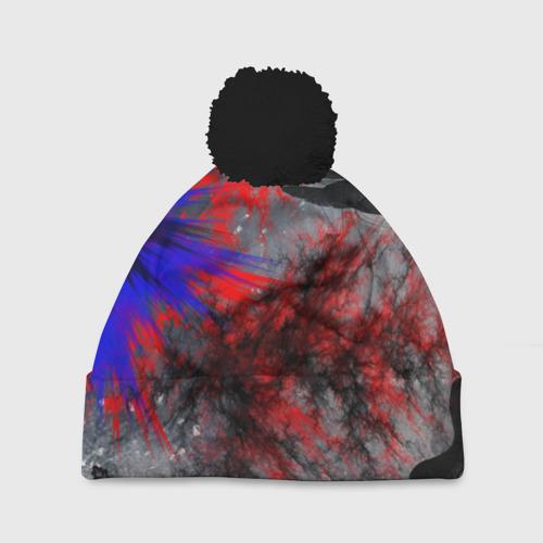 Шапка 3D c помпоном Взрыв красок