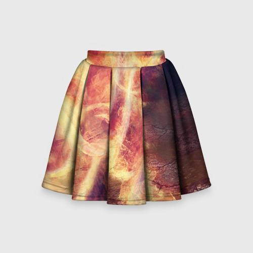 Детская юбка-солнце 3D Фигуры из пламени