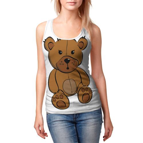 Женская майка 3D  Фото 03, Плюшевый медвежонок