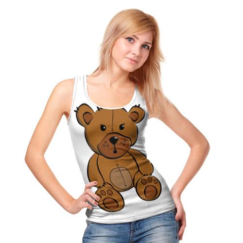 Женская майка 3D  Фото 05, Плюшевый медвежонок