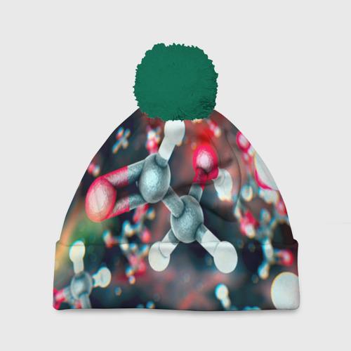 Шапка 3D c помпоном Молекулы