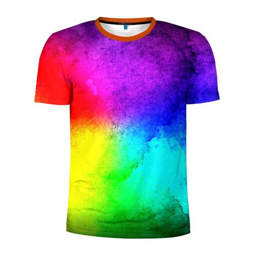 Мужская футболка 3D спортивная Краски